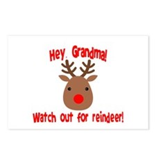 Watch Out for Reindeer Postcards (Package of 8)