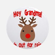 Watch Out for Reindeer Ornament (Round)