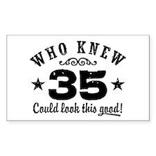 Funny 35th Birthday Decal
