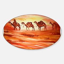 Camels, desert art Decal