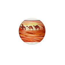 Camels, desert art Mini Button
