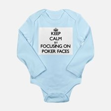Keep Calm by focusing on Poker Faces Body Suit