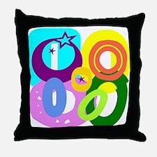 Initial Design (O) Throw Pillow