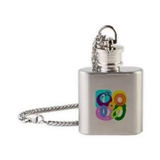 Initial Design (O) Flask Necklace