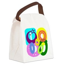 Initial Design (O) Canvas Lunch Bag