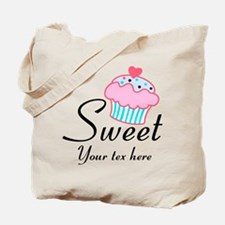 personalized Sweet Cupcake Tote Bag