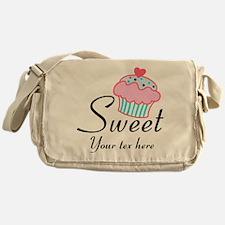 personalized Sweet Cupcake Messenger Bag