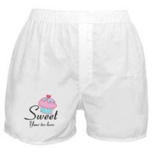 personalized Sweet Cupcake Boxer Shorts