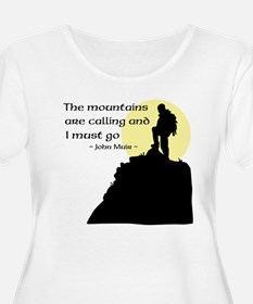 Mountains Calling Plus Size T-Shirt