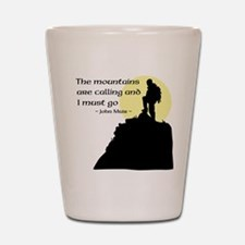 Mountains Calling Shot Glass