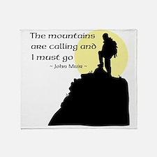 Mountains Calling Throw Blanket