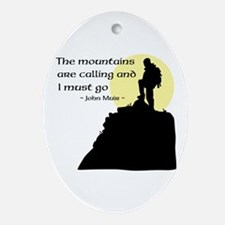Mountains Calling Ornament (Oval)