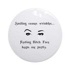 Resting Bitch Face Ornament (Round)