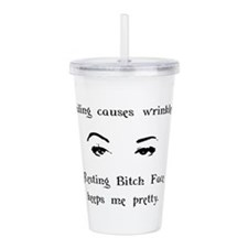 Resting Bitch Face Acrylic Double-wall Tumbler