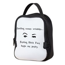 Resting Bitch Face Neoprene Lunch Bag