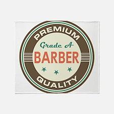 Barber Vintage Throw Blanket