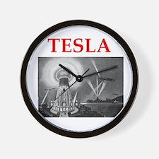 Funny Tesla Wall Clock