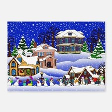 Christmas Village 5'x7'Area Rug