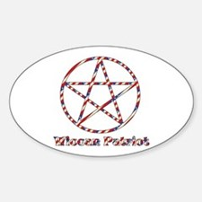 Wiccan Patriot Oval Decal