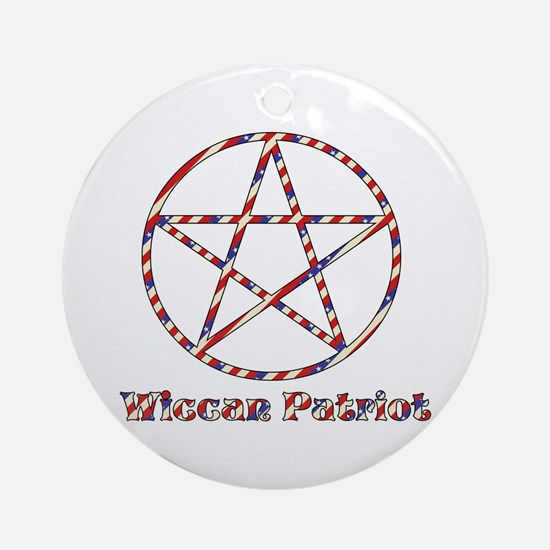 Wiccan Patriot Ornament (Round)
