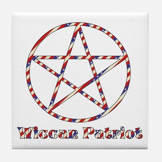 Wiccan Patriot Tile Coaster