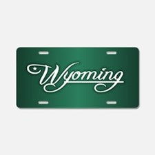 Wyoming State of Mine Aluminum License Plate