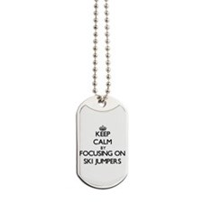Keep Calm by focusing on Ski Jumpers Dog Tags