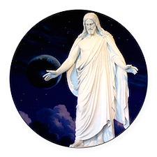 LDS Christus Round Car Magnet