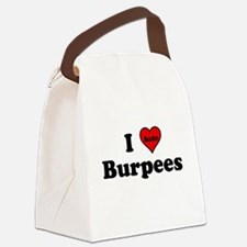 I Heart (hate) Burpees Canvas Lunch Bag