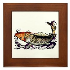 Chinese Fish Framed Tile