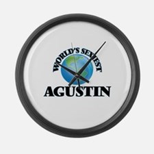 World's Sexiest Agustin Large Wall Clock