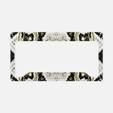 White Timber Snake License Plate Holder