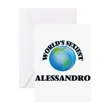 World's Sexiest Alessandro Greeting Cards