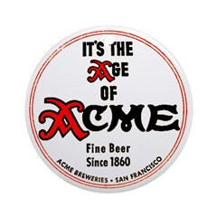 Acme Beer - 1943 Ornament (Round)