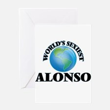 World's Sexiest Alonso Greeting Cards
