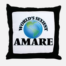 World's Sexiest Amare Throw Pillow