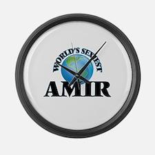 World's Sexiest Amir Large Wall Clock