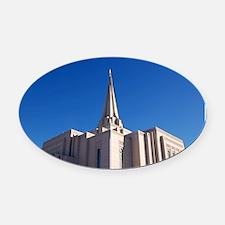 LDS Gilbert Temple Oval Car Magnet