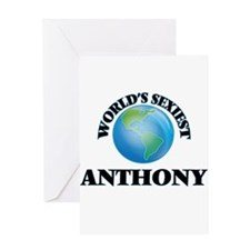 World's Sexiest Anthony Greeting Cards