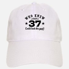 Funny 37th Birthday Baseball Baseball Cap