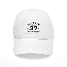 Funny 37th Birthday Baseball Cap