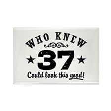 Funny 37th Birthday Rectangle Magnet
