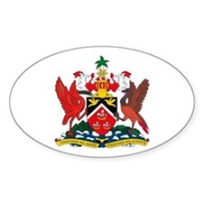 Trinidad and Tobago Coat of Oval Decal