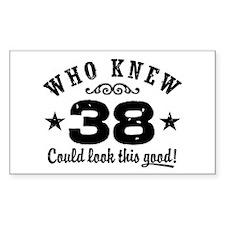 Funny 38th Birthday Decal