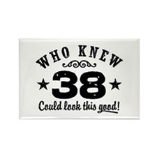 Funny 38th Birthday Rectangle Magnet