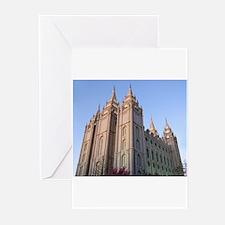 Salt Lake Temple Sunset Greeting Cards