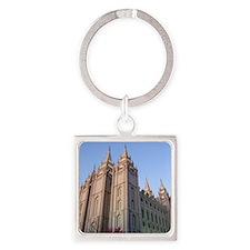 Salt Lake Temple Sunset Keychains