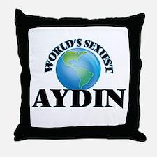 World's Sexiest Aydin Throw Pillow