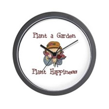 Plant Happiness Wall Clock
