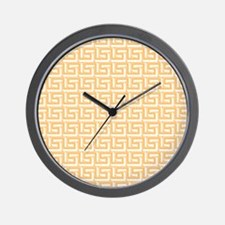 Elegant Yellow Greek Key Wall Clock
